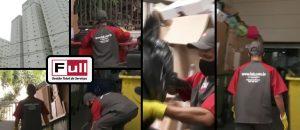 Funcionários da Full atuando em matéria de reciclagem de lixo